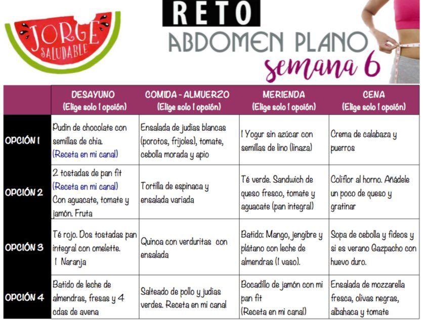Reto abdomen plano – Semana 6 | Jorge Saludable