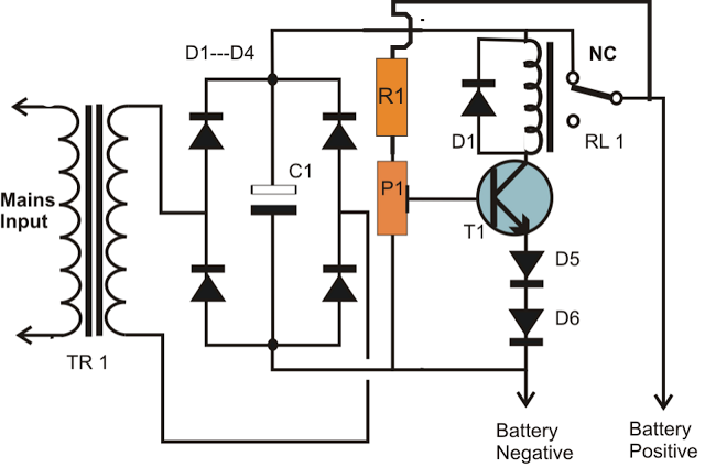 12V Battery Charger With Auto Cut Off Circuit Diagram | Automatic Accu Charger Circuit Best Part Of Wiring Diagram