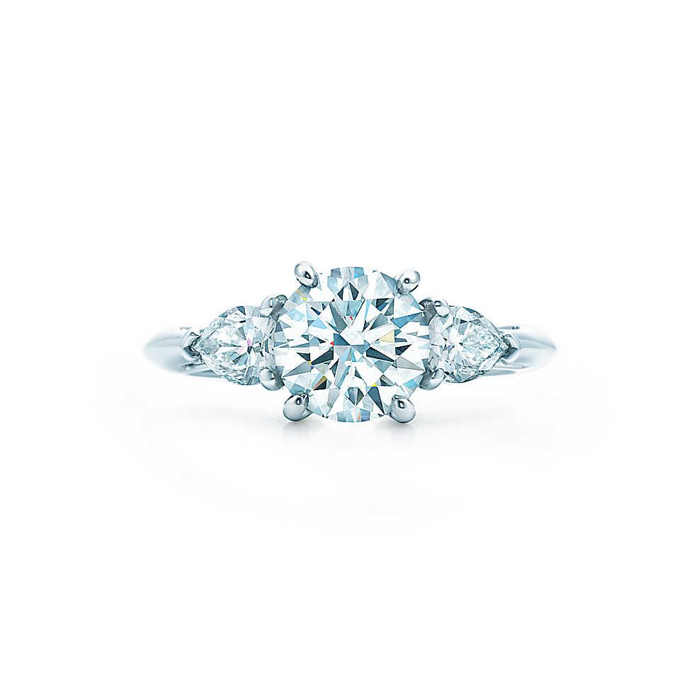 6b6d75b59 Round Brilliant With Pear-shaped Side Stones Engagement Rings | Tiffany & Co .