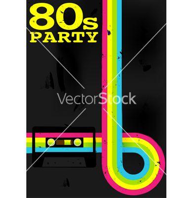 80s Design 80s party flyer vector 789083 -jam-design on vectorstock