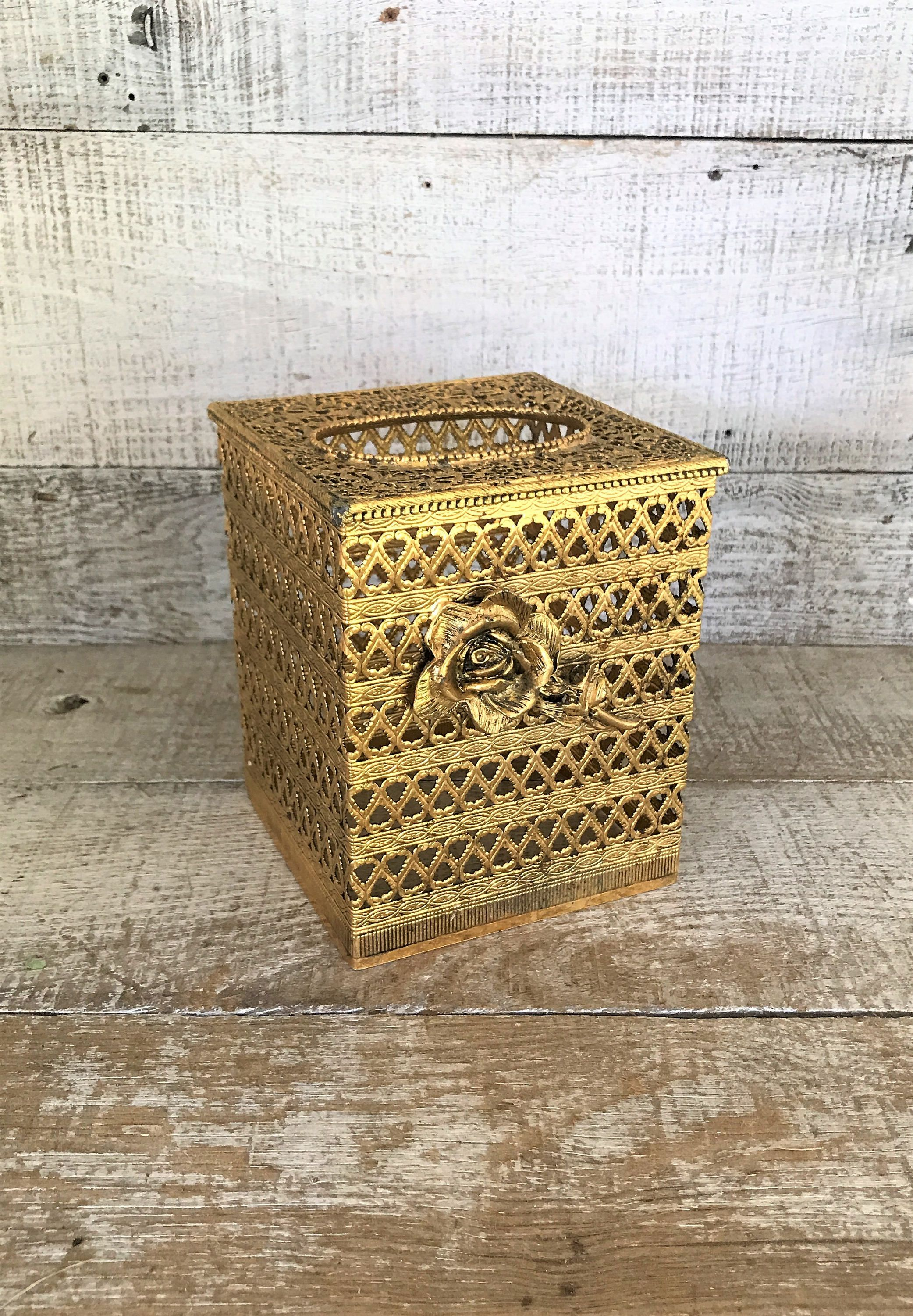 Tissue Box Cover Gold Tissue Box Holder Gold Plated Tissue