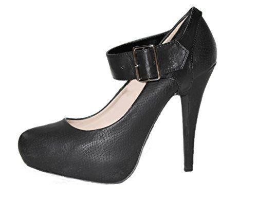 2125f21593 Correas para Zapatos Removibles - Para sujetar zapatos de taco alto flojos  (Amplio Negro)