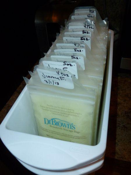 Storing Frozen Breastmilk  Nursing The Babes  Baby -9186