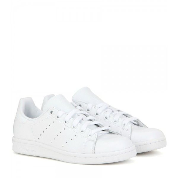 Stan Smith Leather Sneakers | Sneakers, White leather