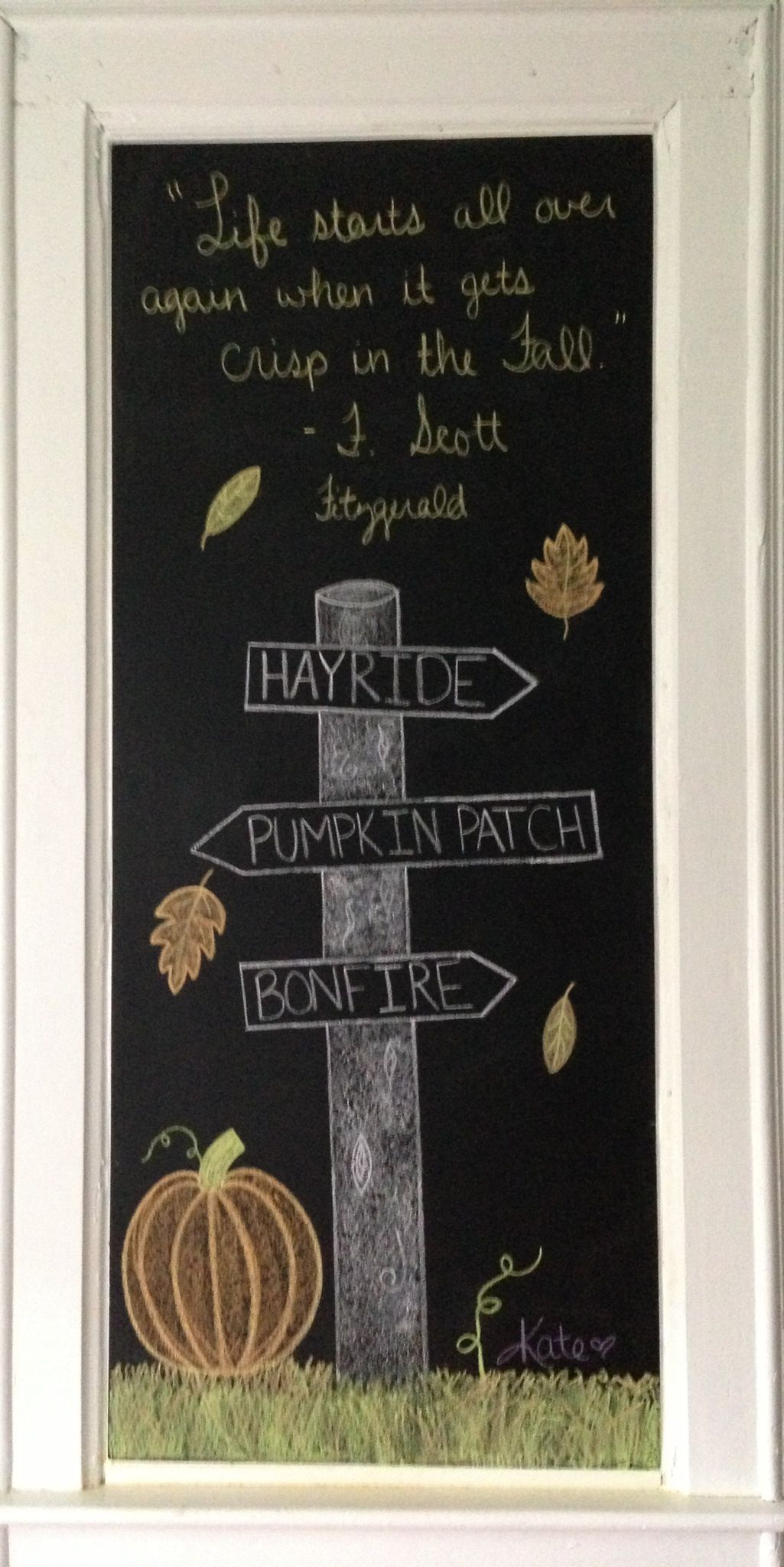 chalkboard i love this idea need to buy one for our home harvest haunts fall my fav. Black Bedroom Furniture Sets. Home Design Ideas