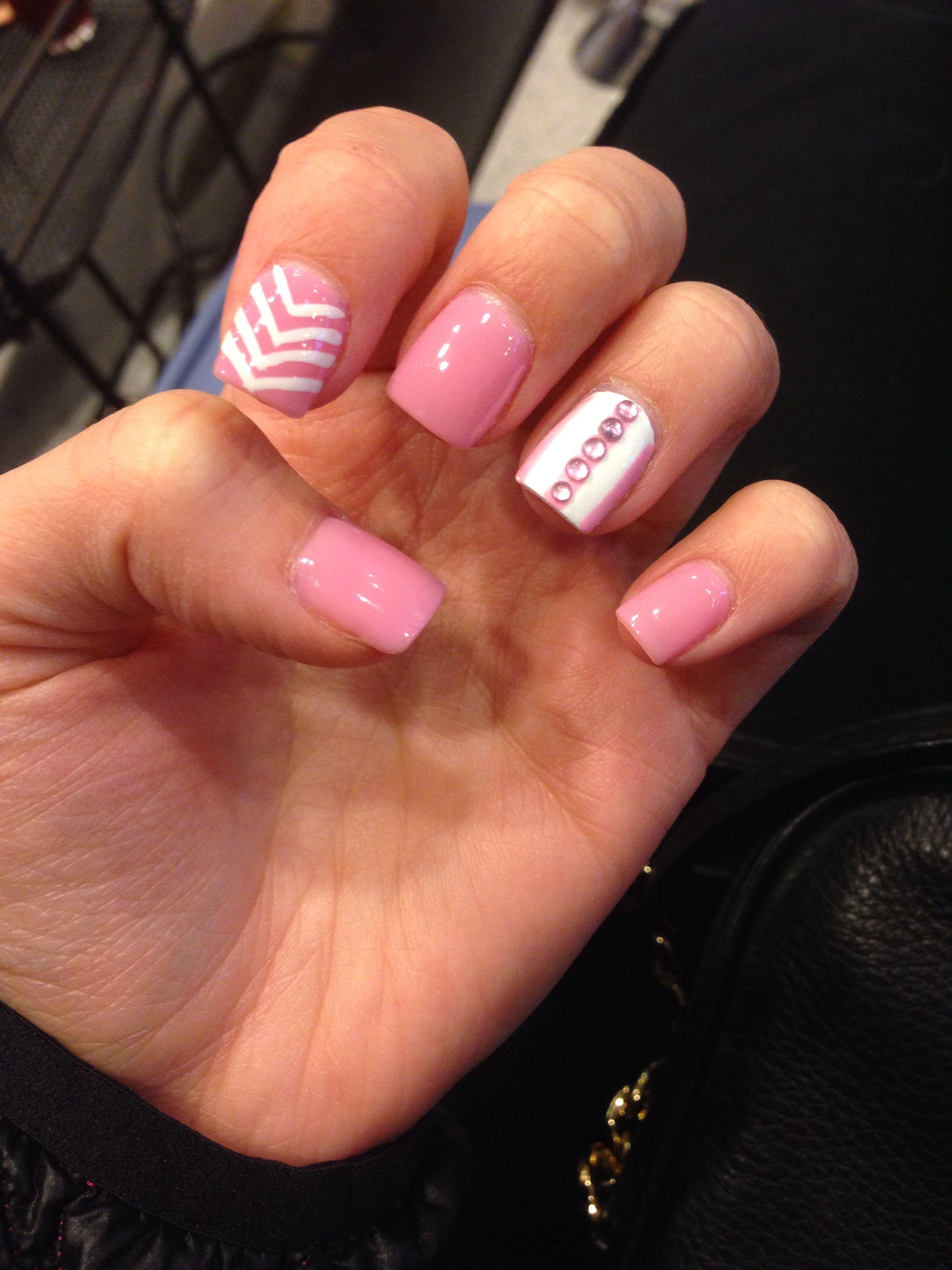 pink nail design   hair and nails   Pinterest   Pink nails, Nail ...
