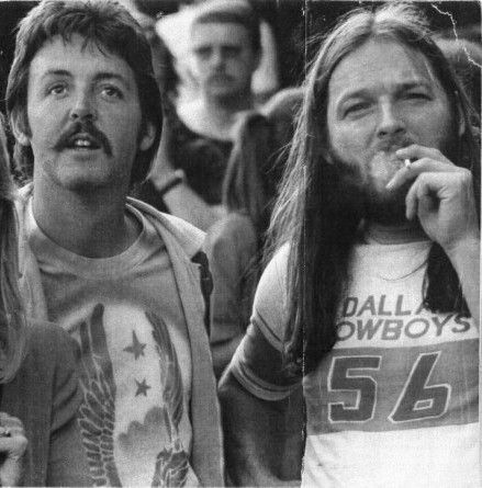 Paul McCartneyandDavid Gilmourat aLed Zeppelinconcert 1976