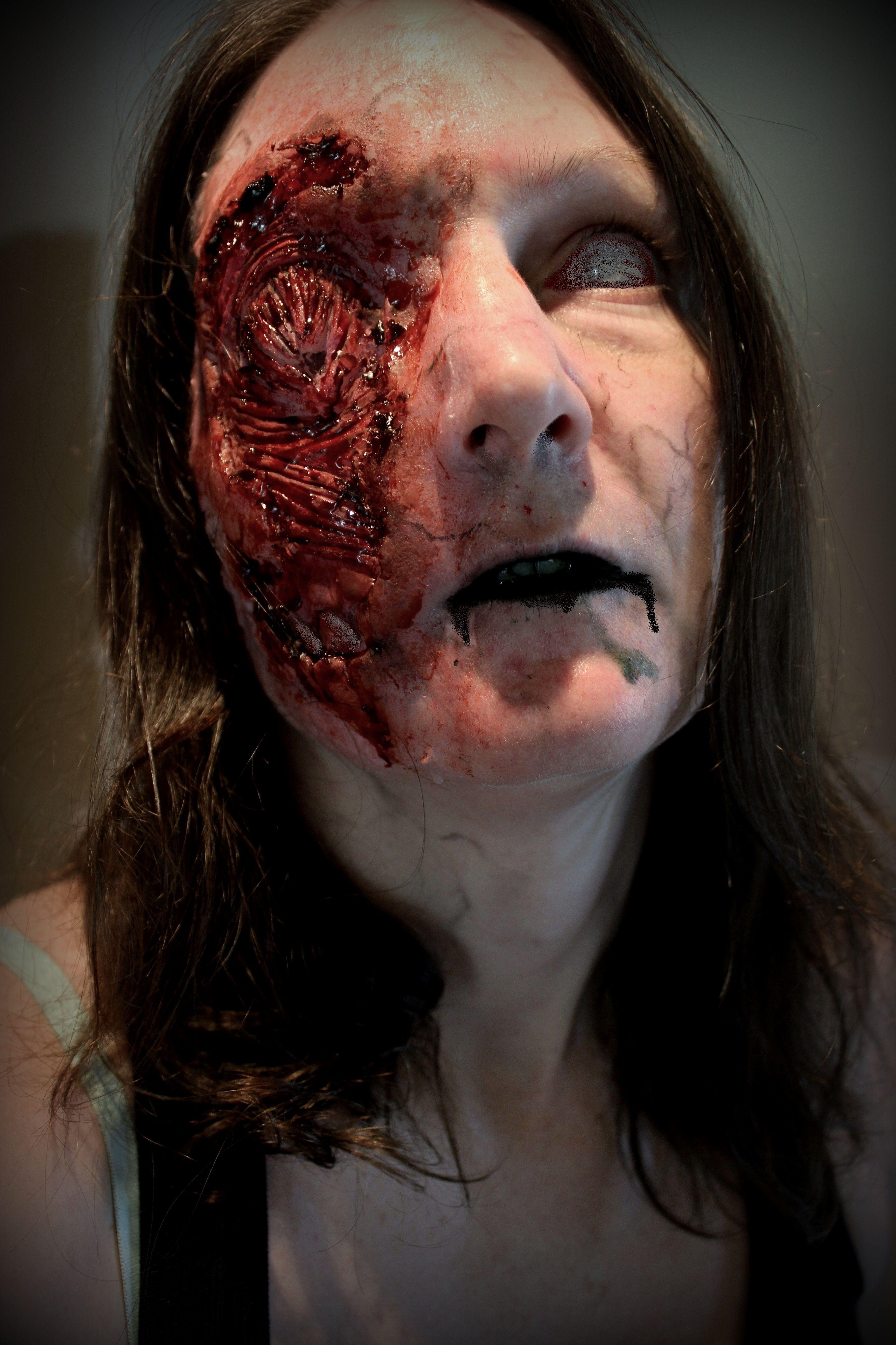 Torn face prosthetic