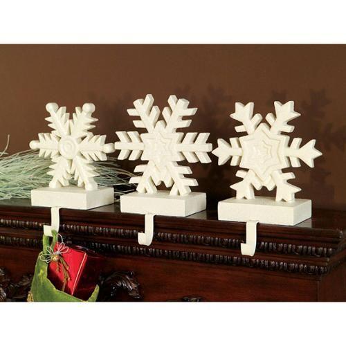 set of 3 winter 39 s blush off white snowflake christmas. Black Bedroom Furniture Sets. Home Design Ideas