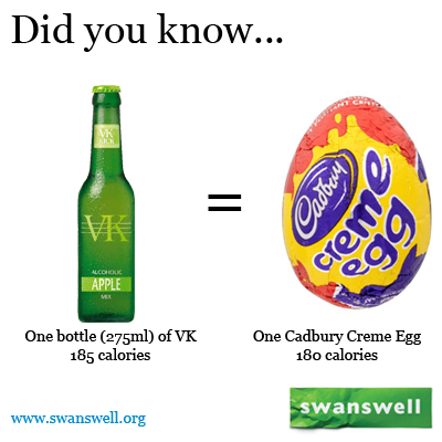 Did you know a bottle of vk has the same calories as one cadbury did you know a bottle of vk has the same calories as one cadbury creme toneelgroepblik Images