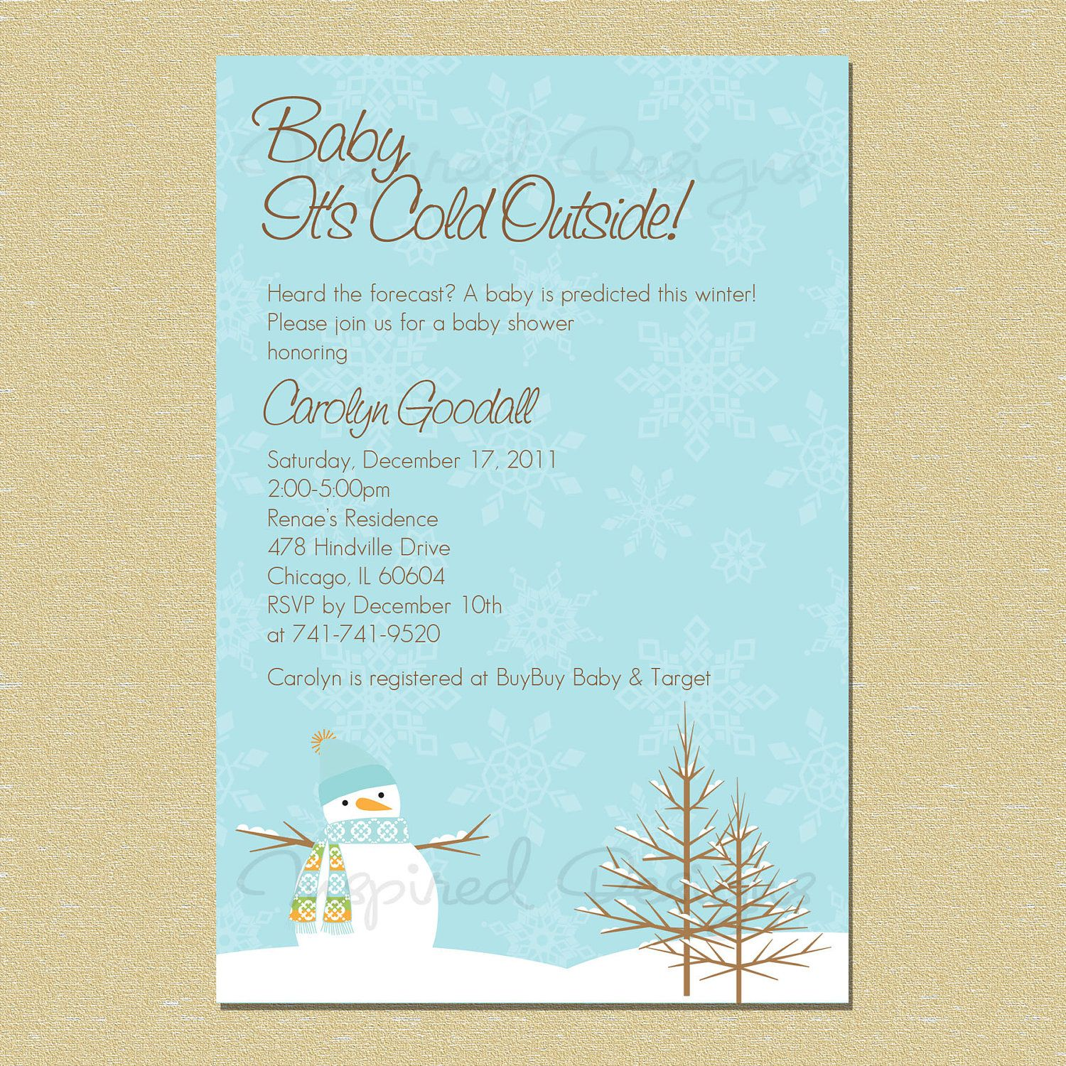 Baby Itu0027s Cold Outside...Winter Wonderland Baby Shower Invitation