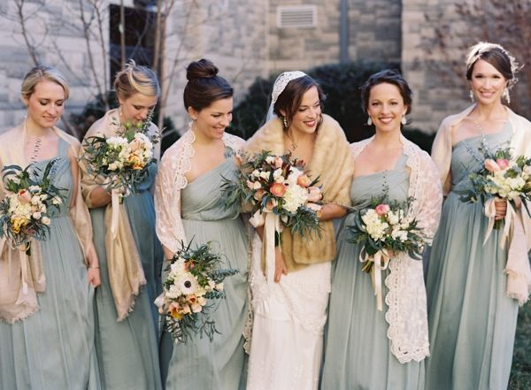 5 wonderful winter wedding ideas winter bridesmaids for Bridesmaid dresses for november weddings