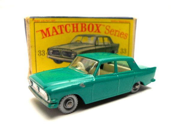 1960s Vintage Matchbox Lesney 33b Ford Zephyr 6 Mk Iii Motor Car Toy Collectible England Matchbox Ford Zephyr Vintage Toys