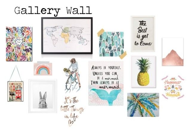 """""""Gallery Wall Inspiration -http://kellyplatts.blogspot.co.uk/"""" by keliseblog ❤ liked on Polyvore featuring interior, interiors, interior design, home, home decor, interior decorating, Pottery Barn and NKUKU"""