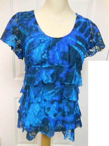 T584 Pretty Woman Lovely Lace Ruffle Blouse – Silhouette Fashion Boutique 59848caea