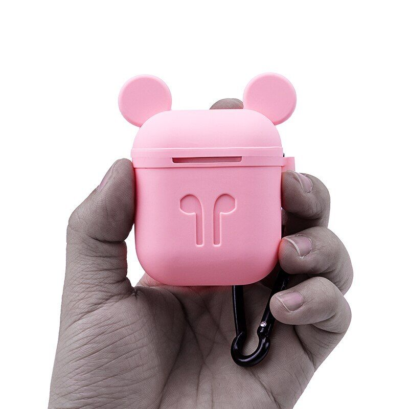 For Airpods Silicone Case Protective Cover Cartoon Mickey Bag