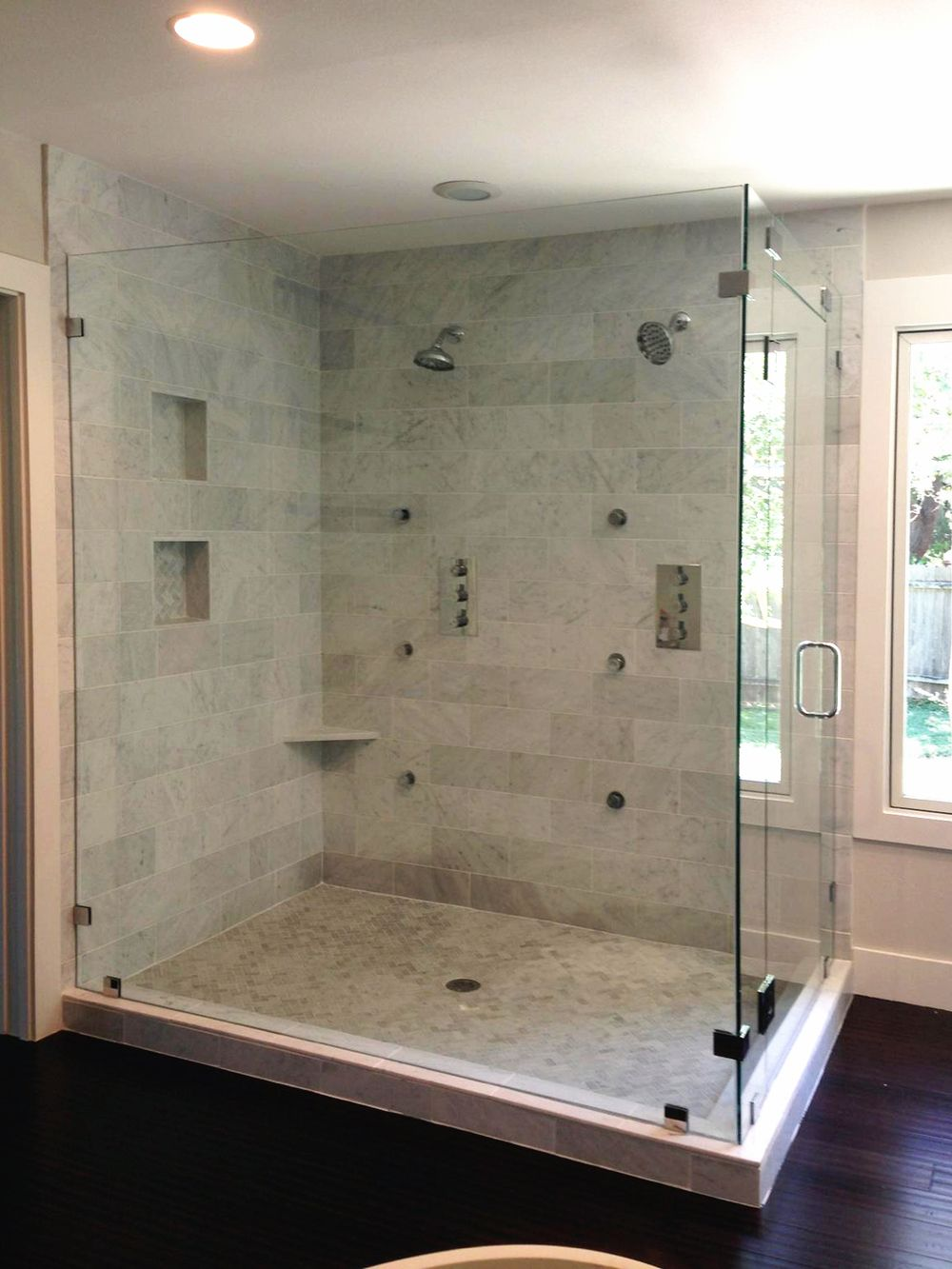 Frameless Shower Doors Large 90 Degree Enclosure Glass Shower