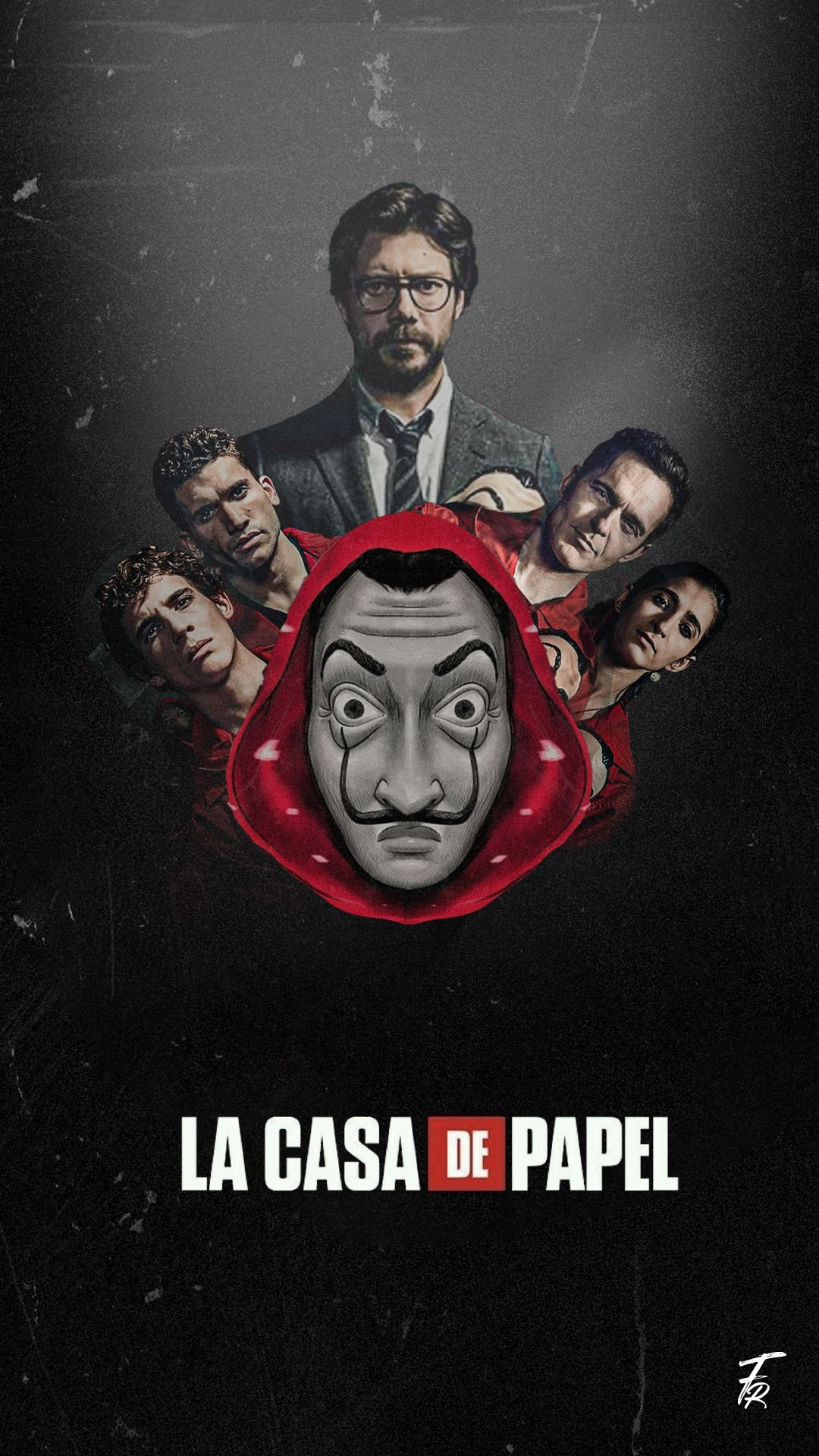 La Casa De Papel A K A Money Heist Mobile Lockscreen And Wallpaper Lacasadepapel Moneyheist Season4 Mh4 M In 2020 Dark Wallpaper Iphone Wallpaper Dark Wallpaper