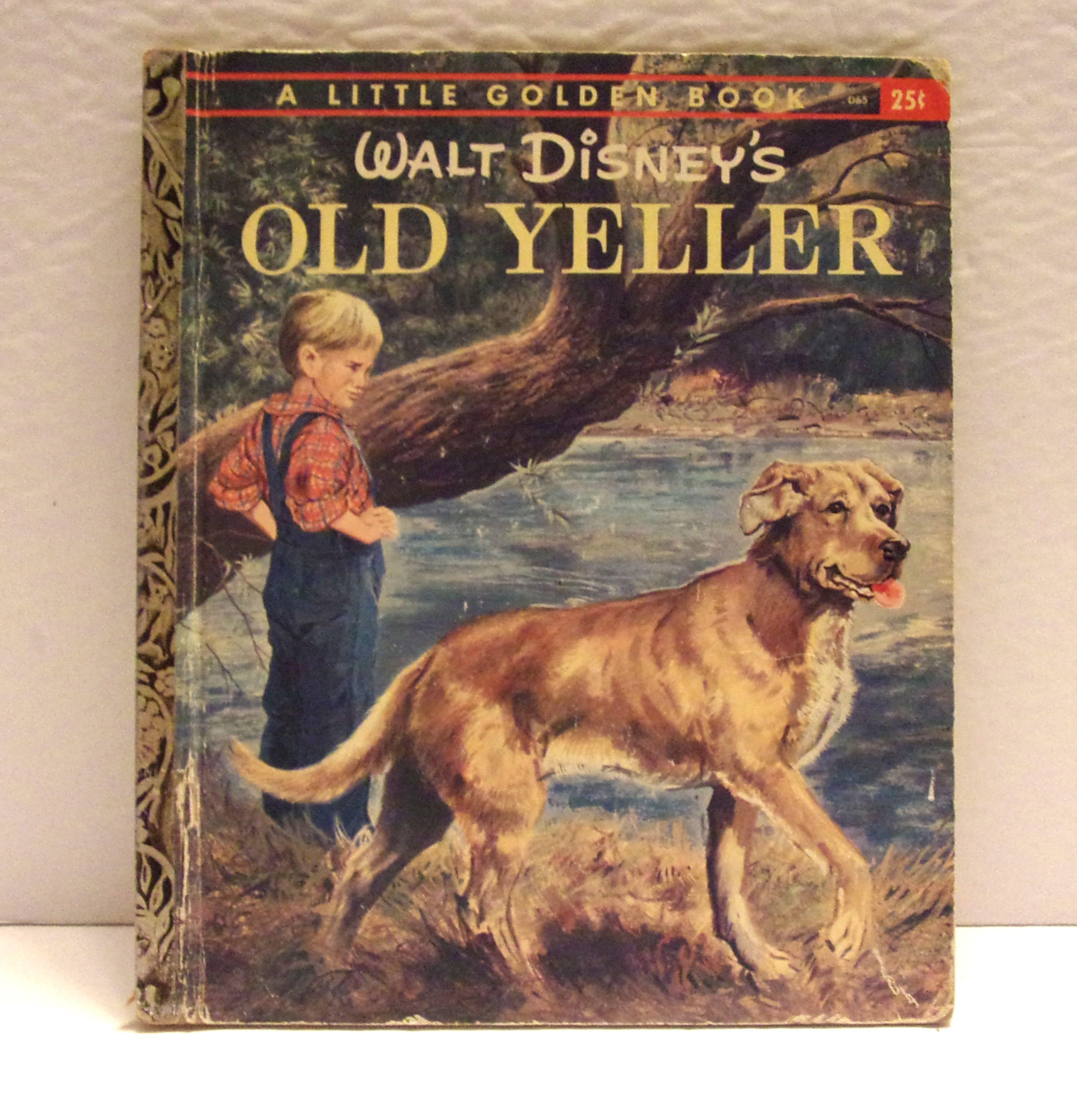 Little golden book vintage disneys old yeller