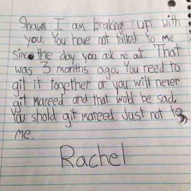 Kids Breakup Letters  How Do I Handle This Shit