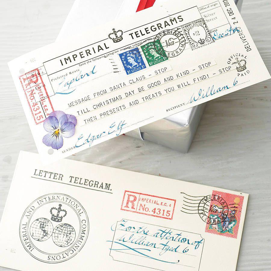 Letter from santa telegram party pinterest santa messages and message from santa telegram by imperial telegrams notonthehighstreet spiritdancerdesigns Choice Image