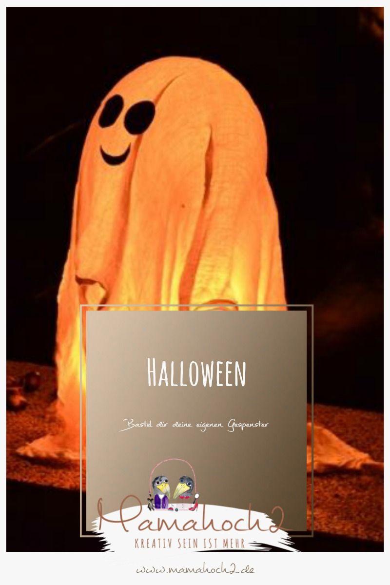 Schaurig schön zu Halloween: So kannst du dir Geister aus Spucktüchern basteln ⋆ Mamahoch2 #geisterbasteln