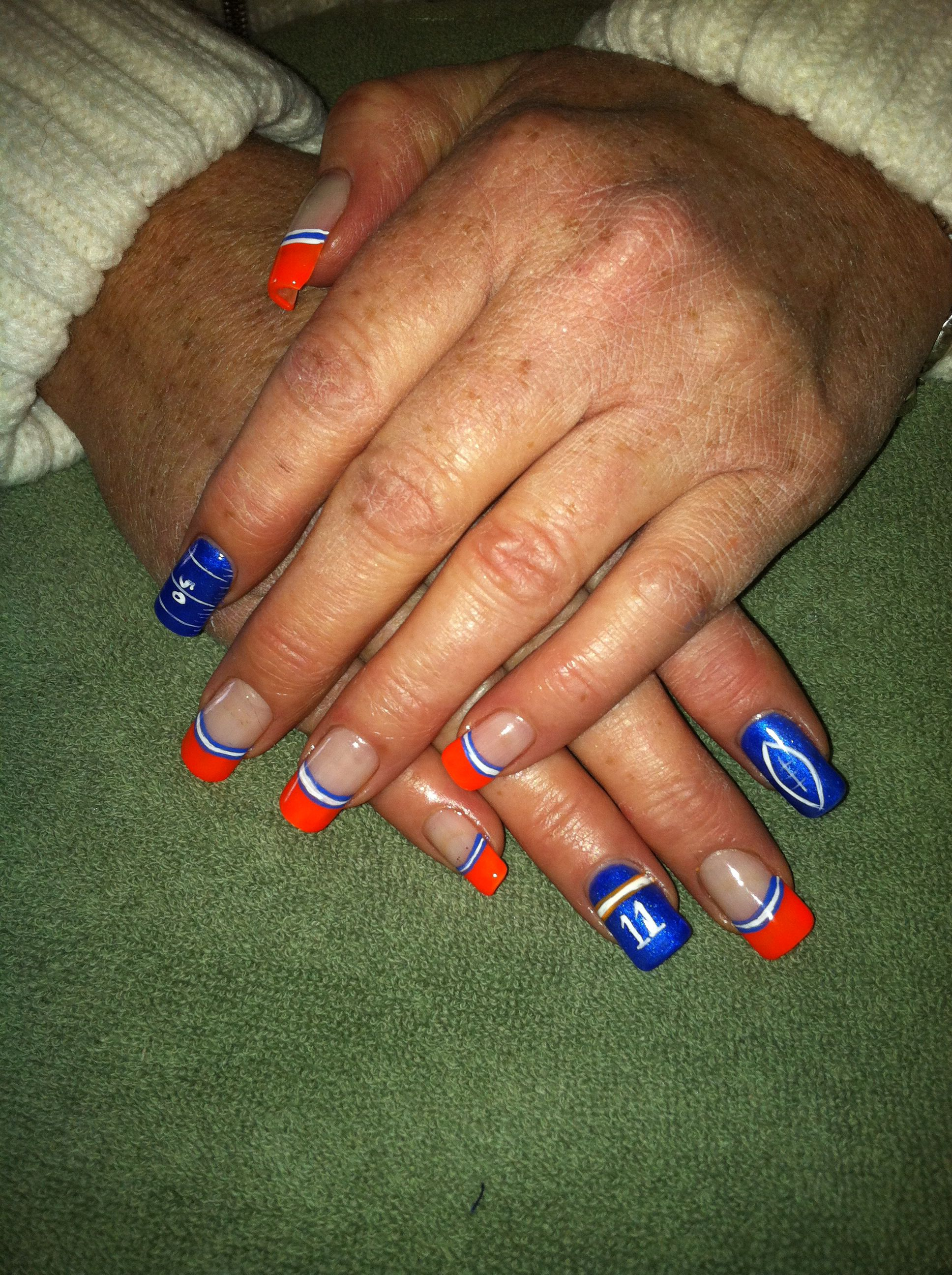 Boise State Nails   Nail Designs   Pinterest   Sports nail art and ...