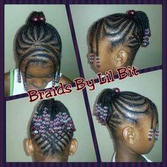african american little girl cornrow bun  google search