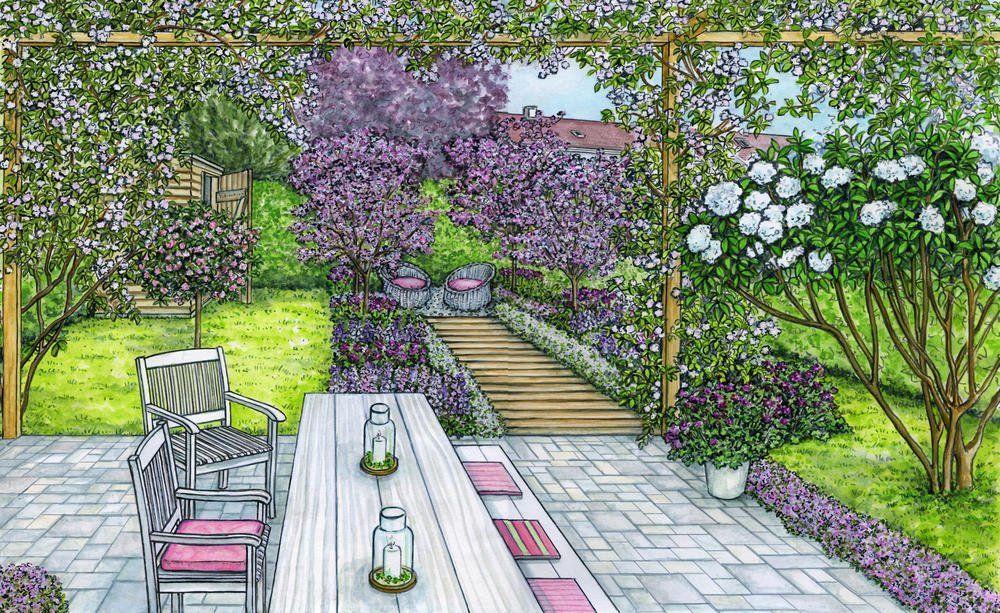 1 Garten 2 Ideen Vom Mini Grundstuck Zur Bluhenden Oase Cottage Garten Garten Anlegen Garten