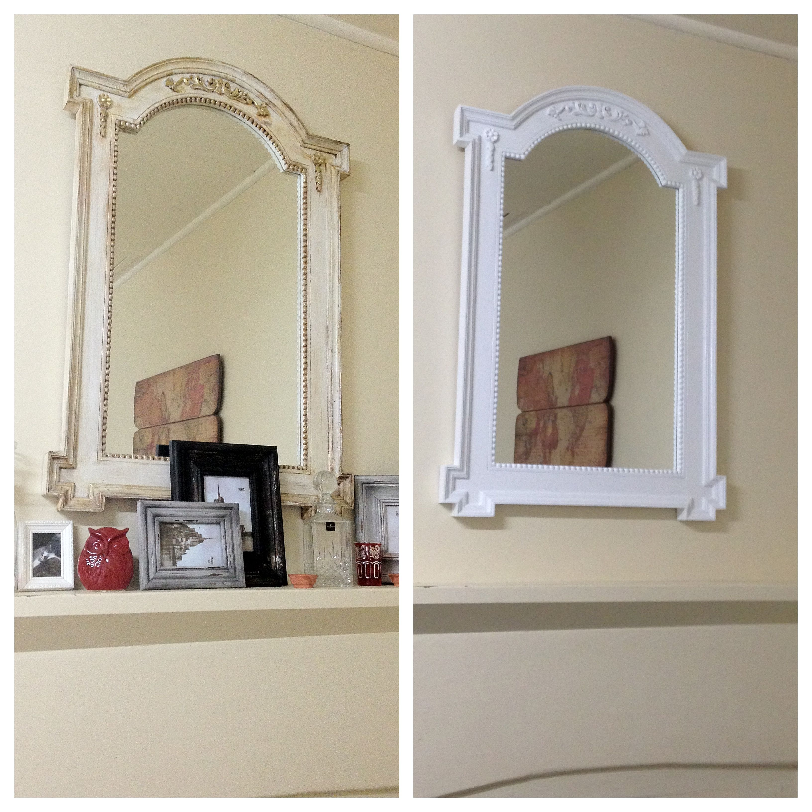 Amazing what a lick of paint can do. Mirror makeover.