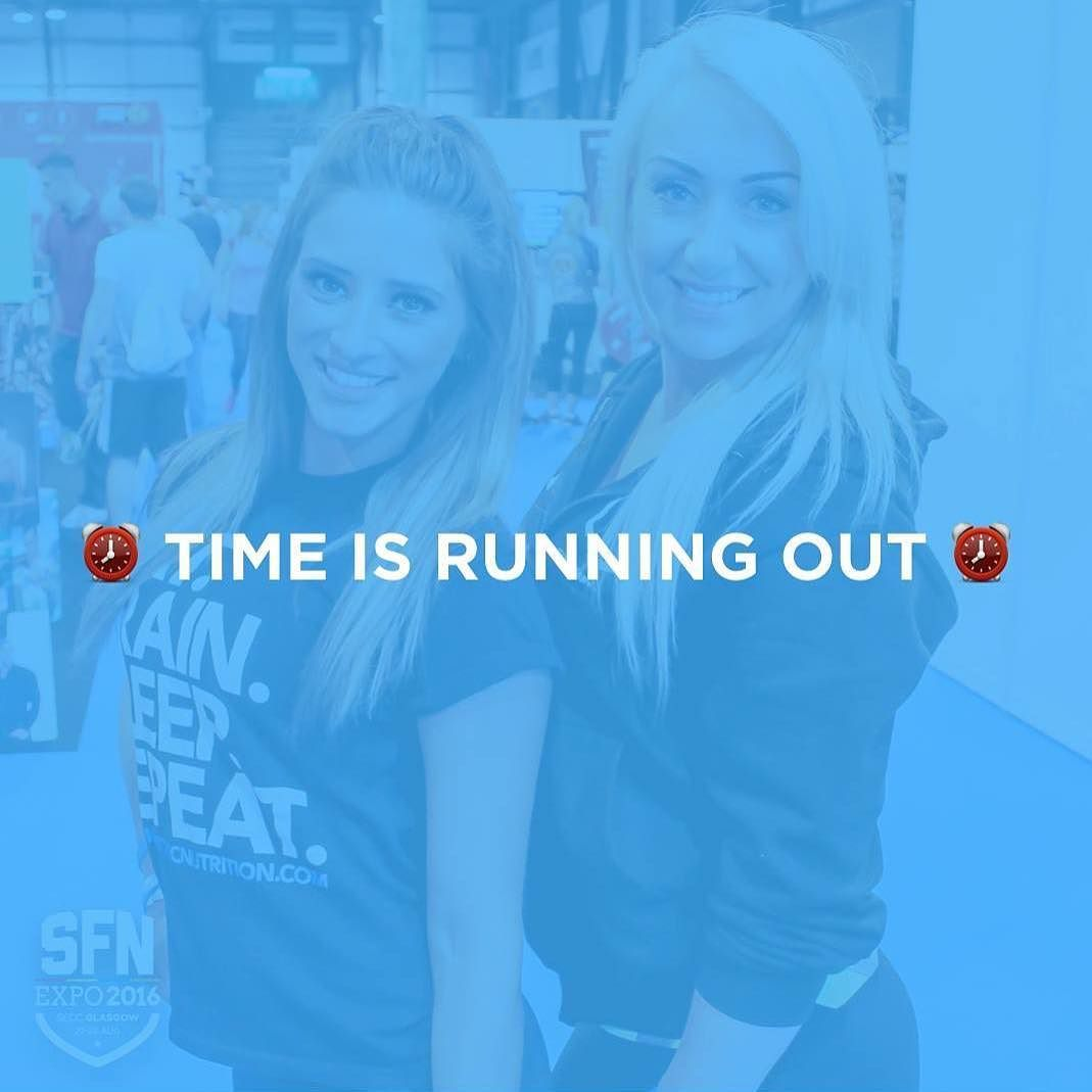 Time is running out! In 2 days the price of tickets jumps a little! . Why wouldn't you want to come and meet fit beauties like @megsmithfitness and @jenfordwbff?!! There's also some guy called @ryanjterry  there too but whatevs  . The @sfnexpo amazing last year and will be even better this year! . Right now is the best time to buy you have 3 days before ticket prices go up  . 27/28th August Glasgow SECC . If your into health fitness bodybuilding crossfit strongman powerlifting boxing ufc…