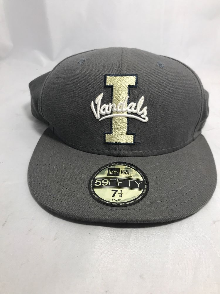 0a4246057dcd5 59 FIFTY Idaho Vandals Logo Hat Fitted Cap Size 7 1 4 COLOR GRAY   GREY NEW   NewEra  BaseballCap
