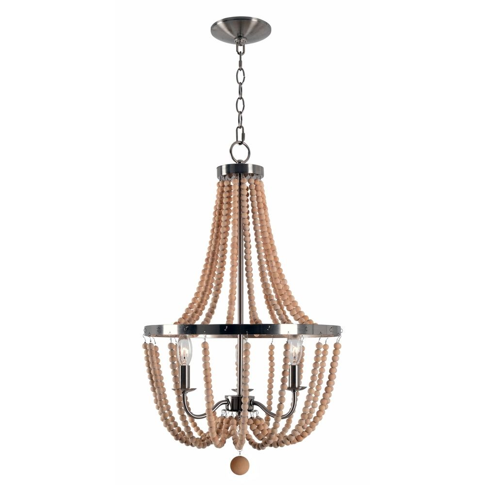 Quorum electra 8 light sputnik chandelier amp reviews wayfair - Mindy 3 Light Wood Bead Chandelier