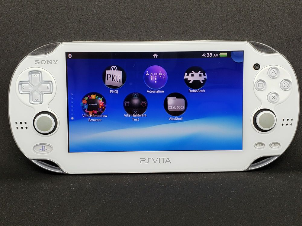 All White PS Vita PlayStation Vita System OLED 3 65 Henkaku Enso