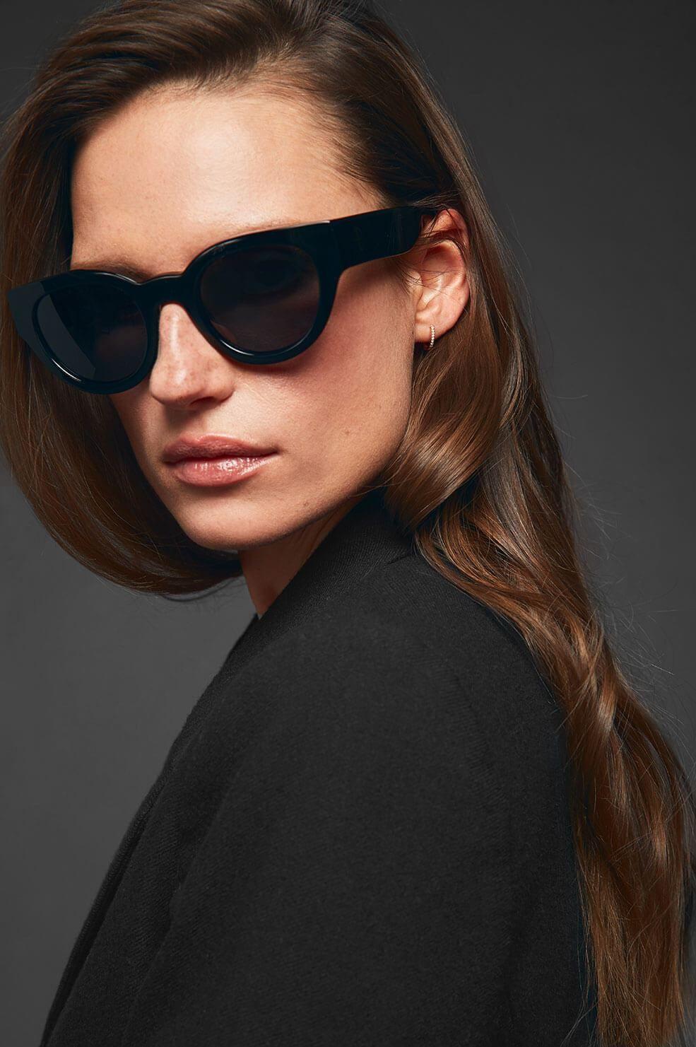 97a590e6ab8 ANINE BING Trousdale Sunglasses - Black