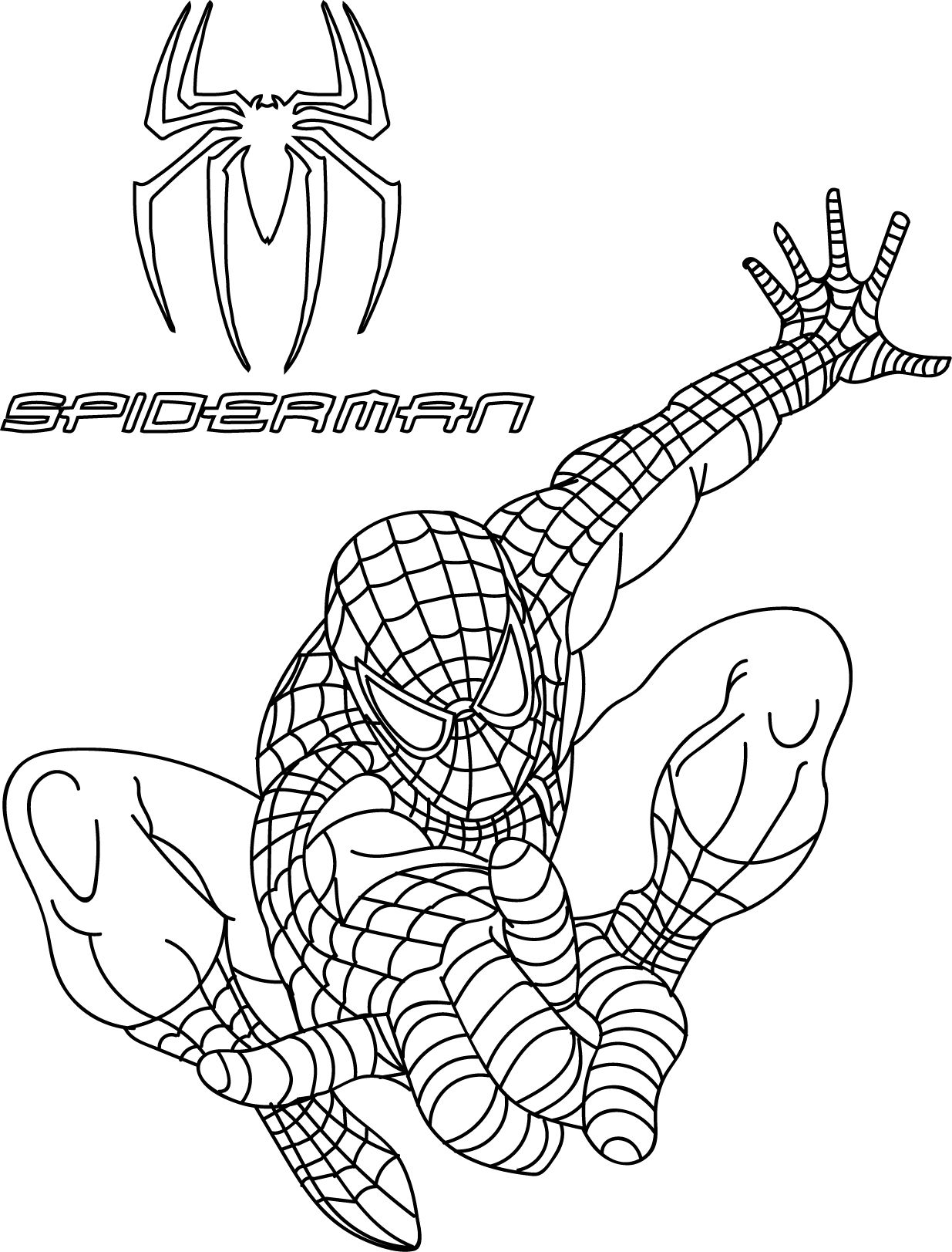 nice spiderman coloring pages