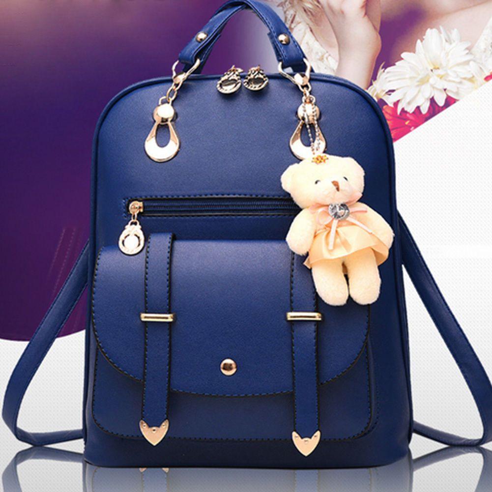 103f5d5354d4 Women s Casual Backpack Shoulder Bag Ladies Travel Handbag School Bags  Rucksack