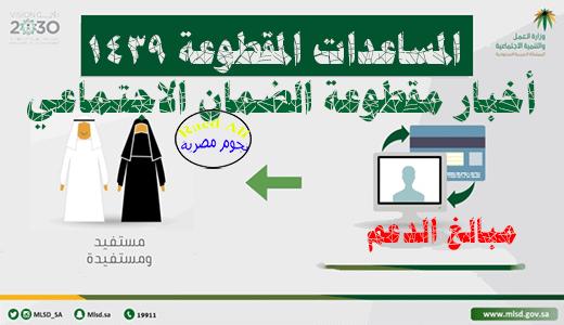 رابط استعلام المساعدات المقطوعة برقم السجل المدني لشهر ذي القعدة 1440هـ Arab News News Egypt