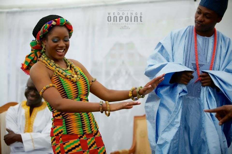 Ghanaian bride and Nigerian groom