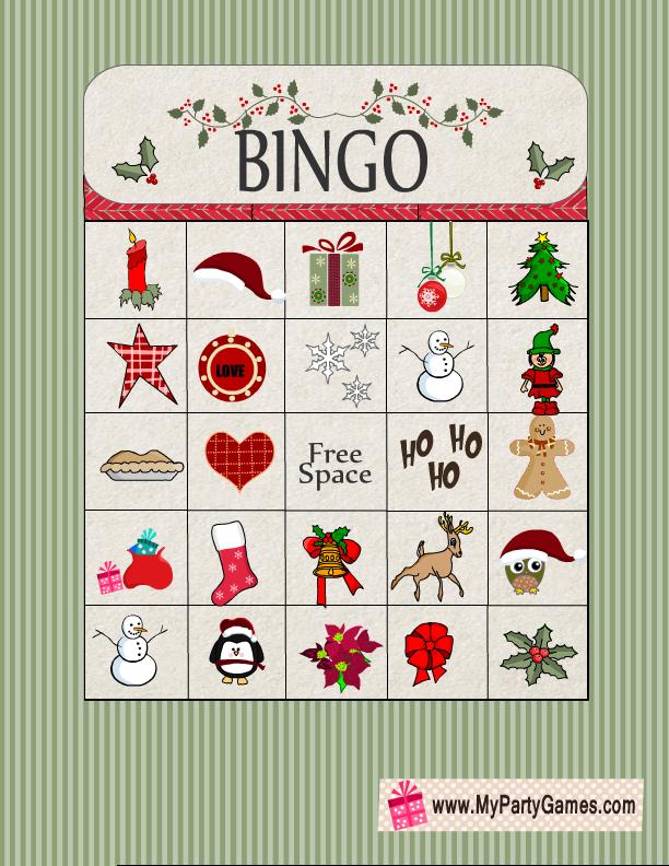graphic regarding Christmas Bingo Free Printable known as Absolutely free Printable Xmas Bingo Recreation Card 7 No cost Xmas