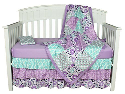 Purple Baby Bedding Zoe 4 In 1 Crib Bedding Set By The