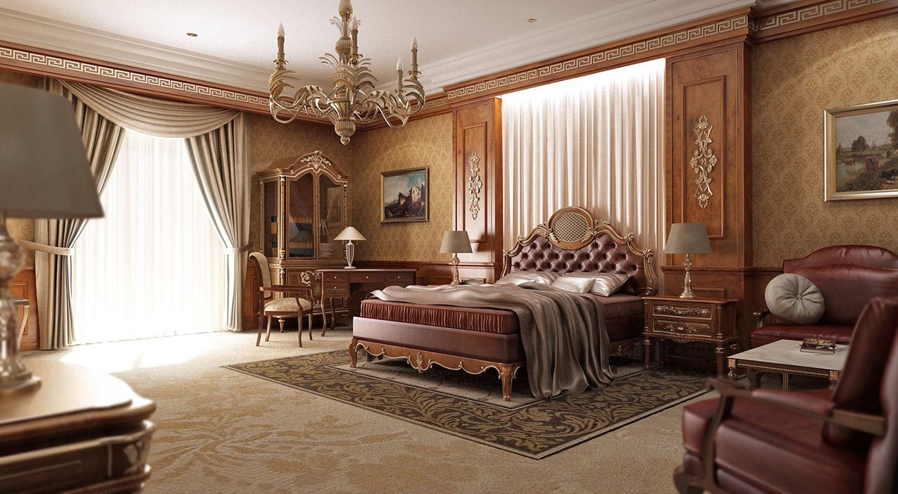 Luxury Master Bedroom Decorating Design Ideas Classic And Elegant Style Traditional Bedroom Design Classic Bedroom Design Luxury Bedroom Master
