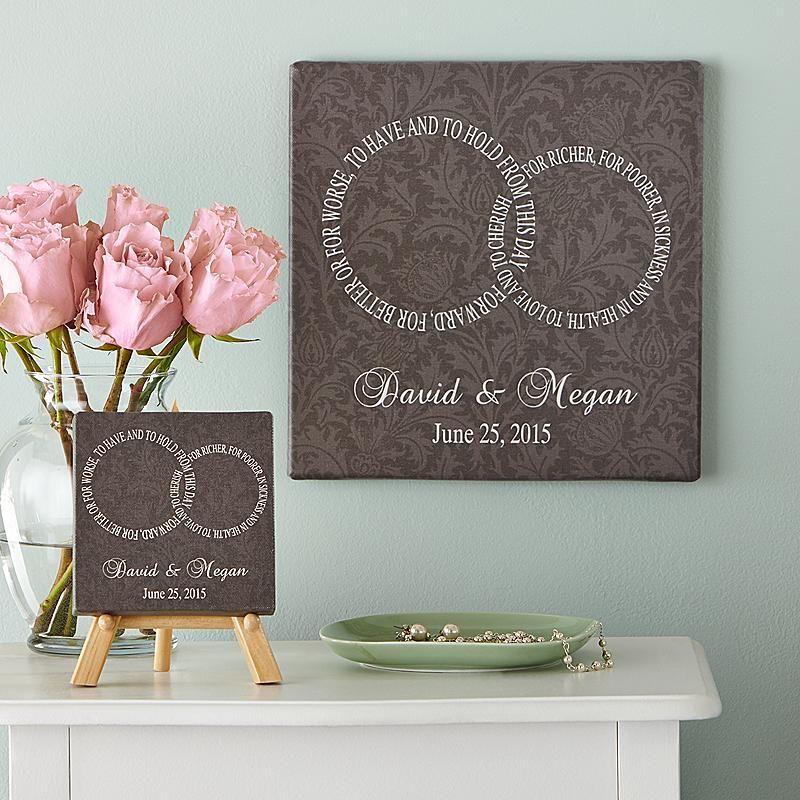 Gifts For Pre Wedding Bride: Love Canvas, Wedding Pillows