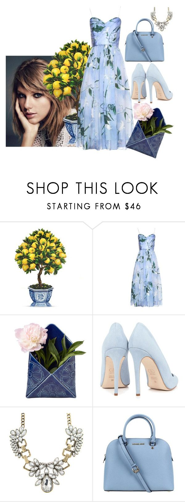 """printspired florals"" by arohii ❤ liked on Polyvore featuring Isolda, Creative Works, Dee Keller and Michael Kors"