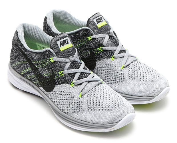 mens nike flyknit lunar 3 green grey