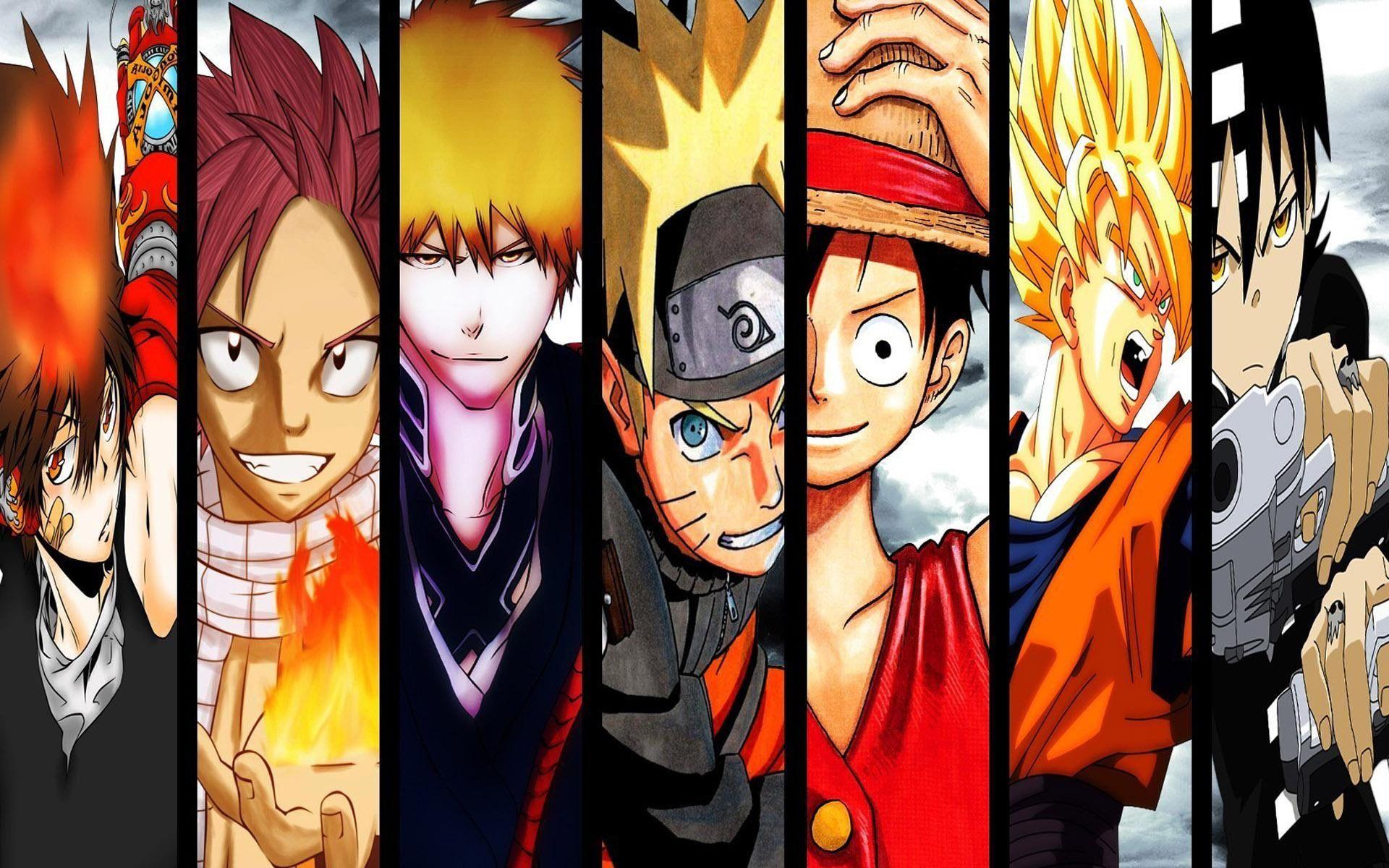 Anime Protagonists Anime Character Anime 1920x1200 Bleach One Piece Soul Eater Naruto Naruto Uzumaki Fairy Tail Dr Anime Wallpaper Anime Good Anime Series