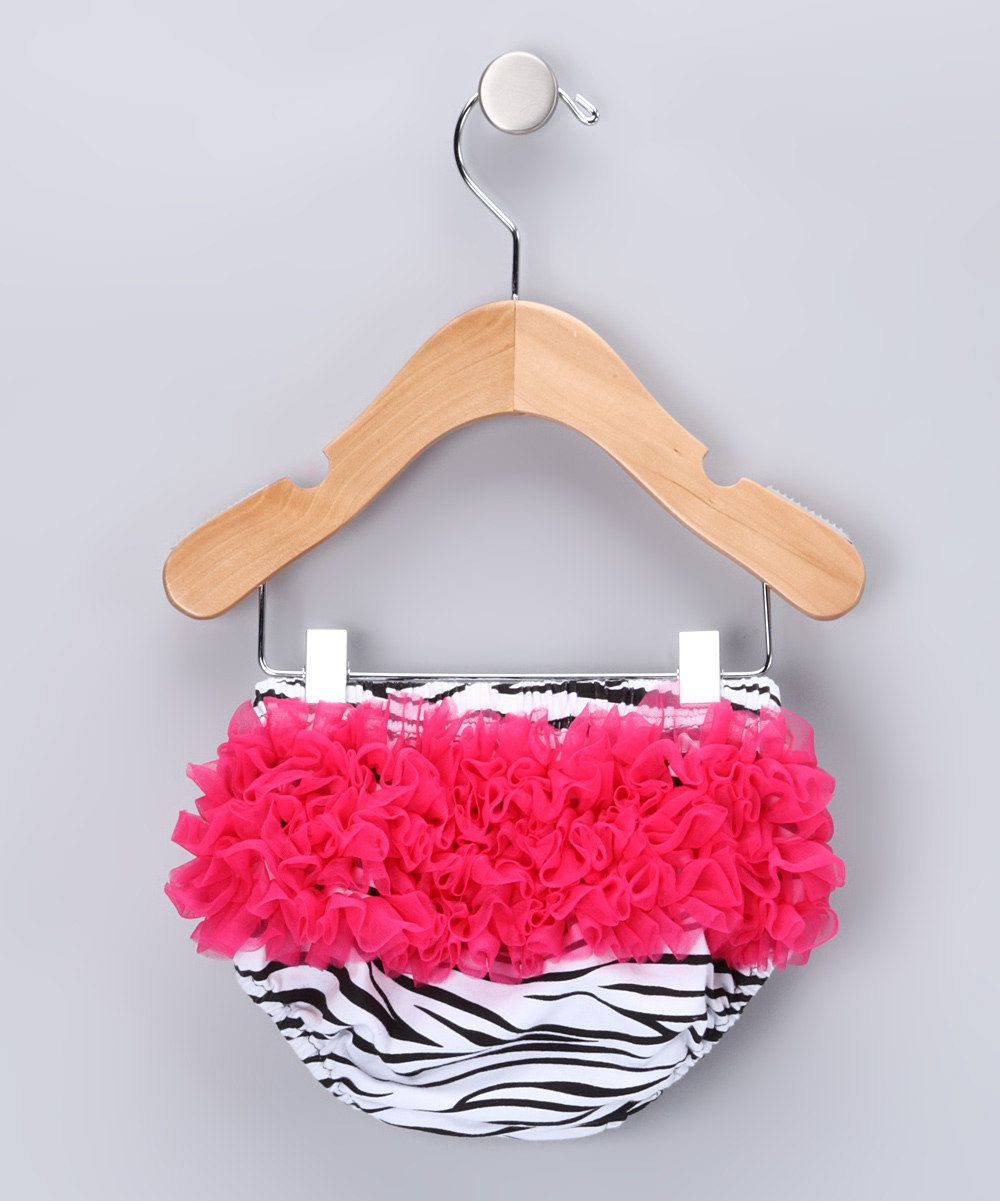 Hot Pink Zebra Sheer Ruffle #Diaper Cover by Mon Petit Mardi on #zulily