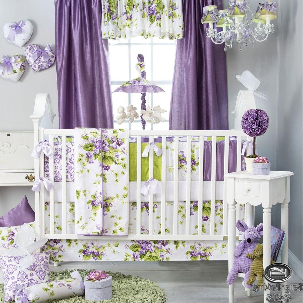 Baby Nursery Ba Purple Lavender Green Babies Quilt Crib