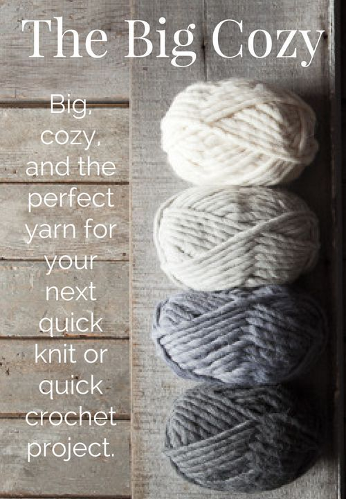 The Big Cozy -- a fun, thick yarn that is a sublime blend of ...
