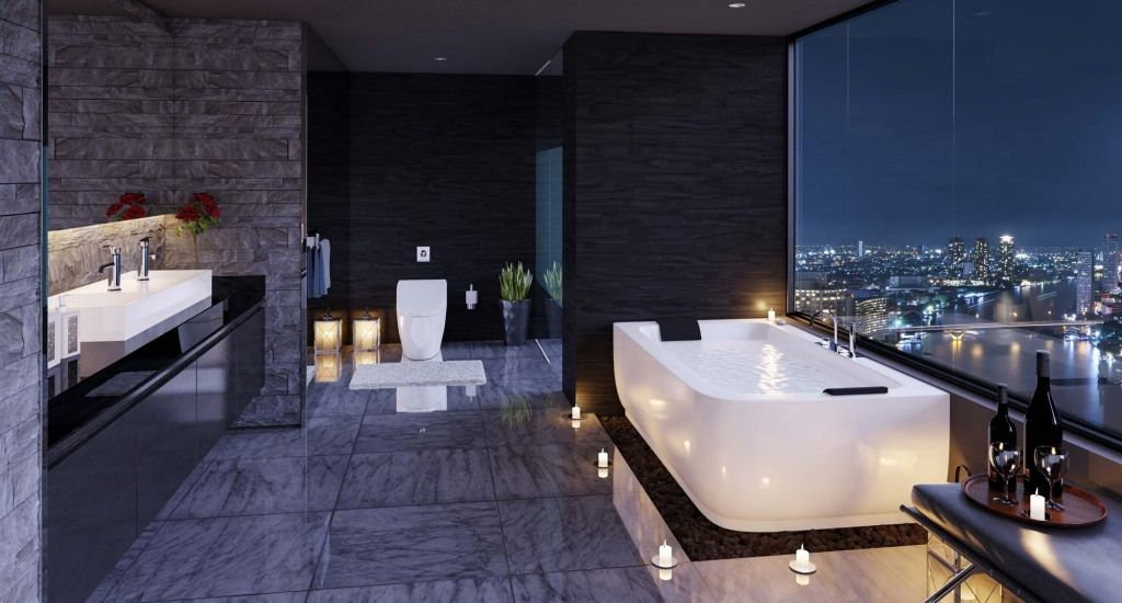 30 Modern Luxury Bathroom Design Ideas Modern Luxury Bathroom Bathroom Design Luxury Luxury Bathroom Master Baths
